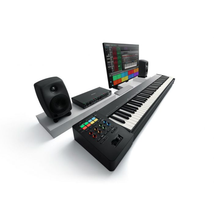 A Roland A-88MKII MIDI controller in action