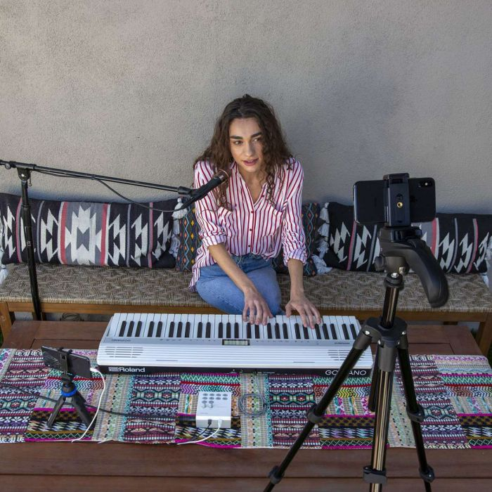 Musician Livestreaming with The Roland GO LIVECAST
