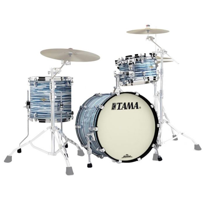 Tama Starclassic Maple 3-Piece Shell Pack Blue and White Oyster