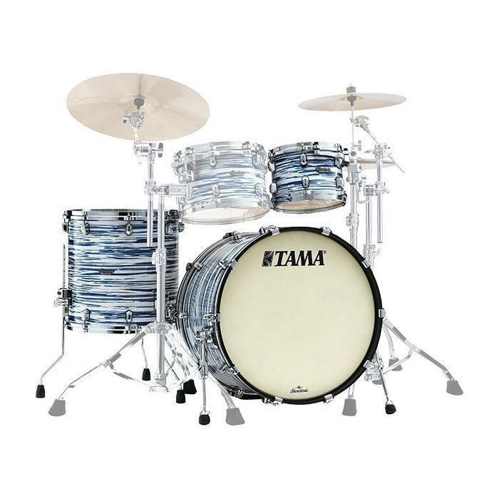 Tama Starclassic Maple 3-Piece Shell Pack 22in Blue and White Oyster