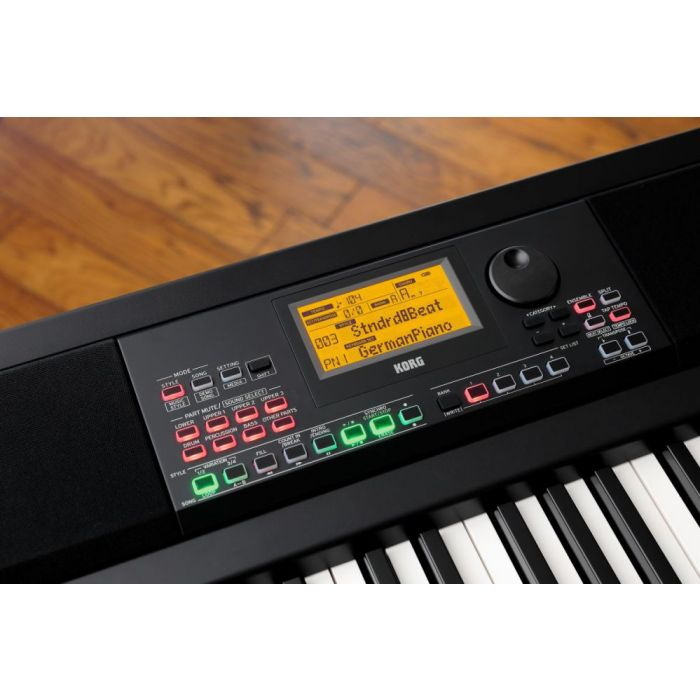 Closeup of the display on a Korg XE-20 Versatile Digital Piano