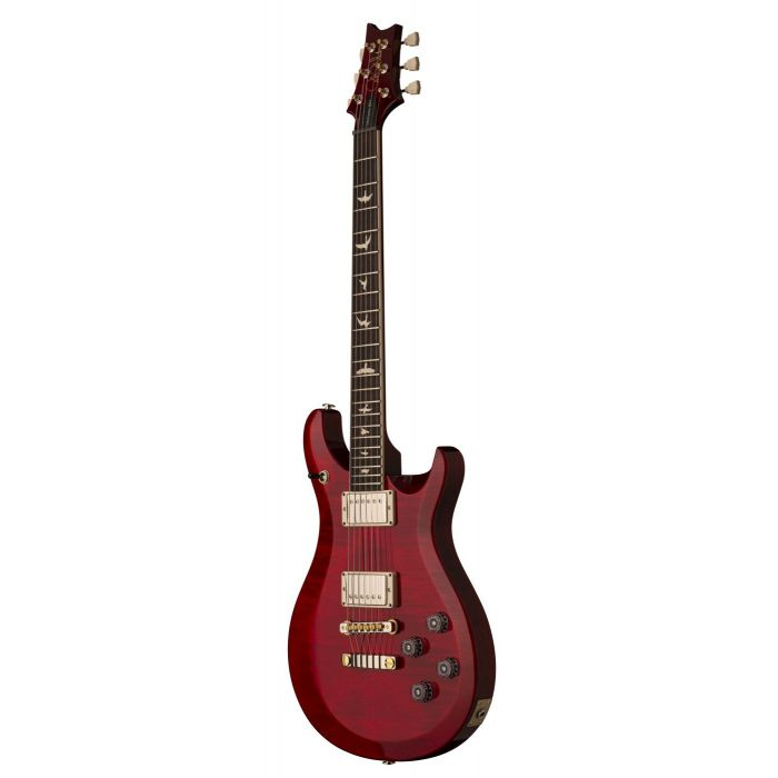Front angled view of a PRS S2 McCarty 594 Electric Guitar Scarlet Red