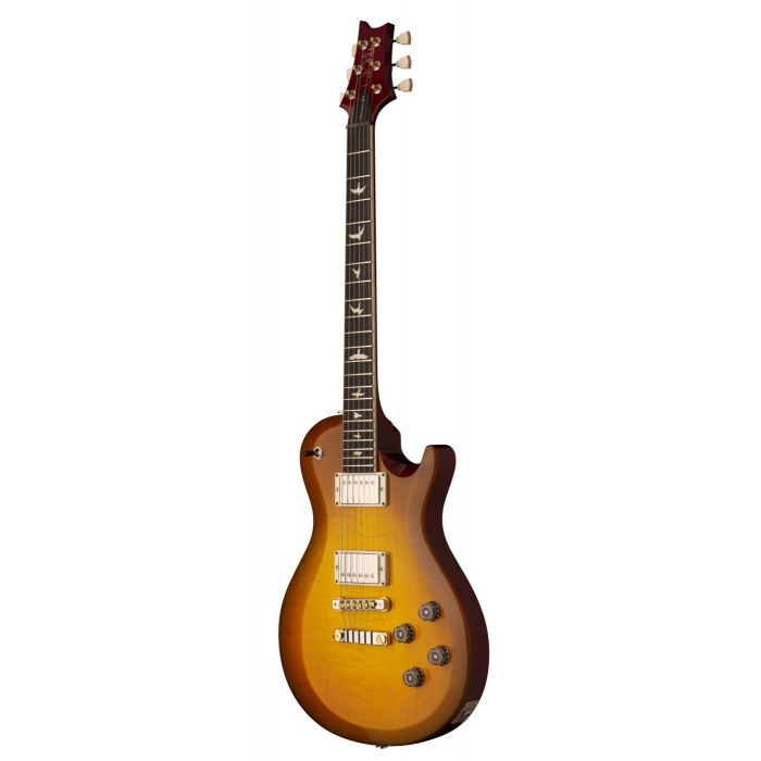 Front angled view of a PRS S2 McCarty 594 Singlecut Electric Guitar McCarty Sunburst