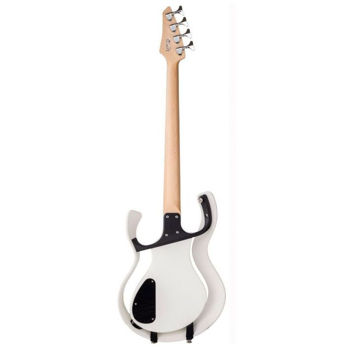 Rear view of a Vox Starstream Electric Bass Guitar 1H White