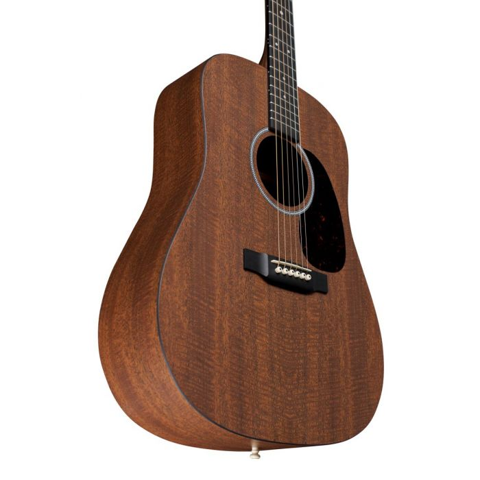 Lower bout view on a Martin D-X1E HPL Mahogany Electro Acoustic