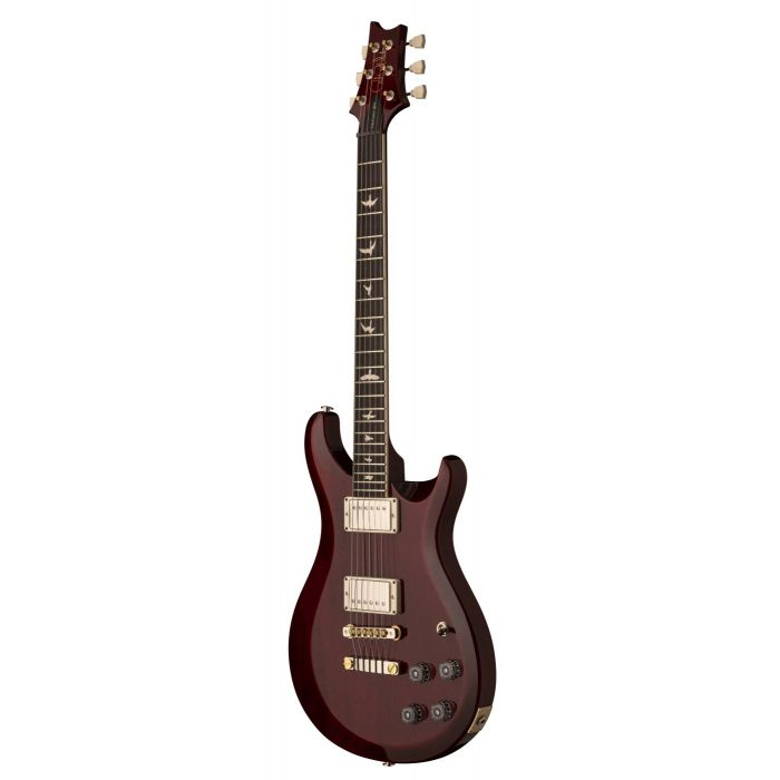 Fornt angled view of a Vintage Cherry PRS S2 McCarty 594 Thinline