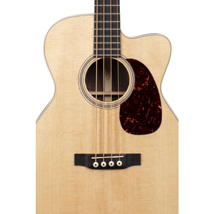 Martin BC-16E Electro Acoustic Bass Front Body Detail