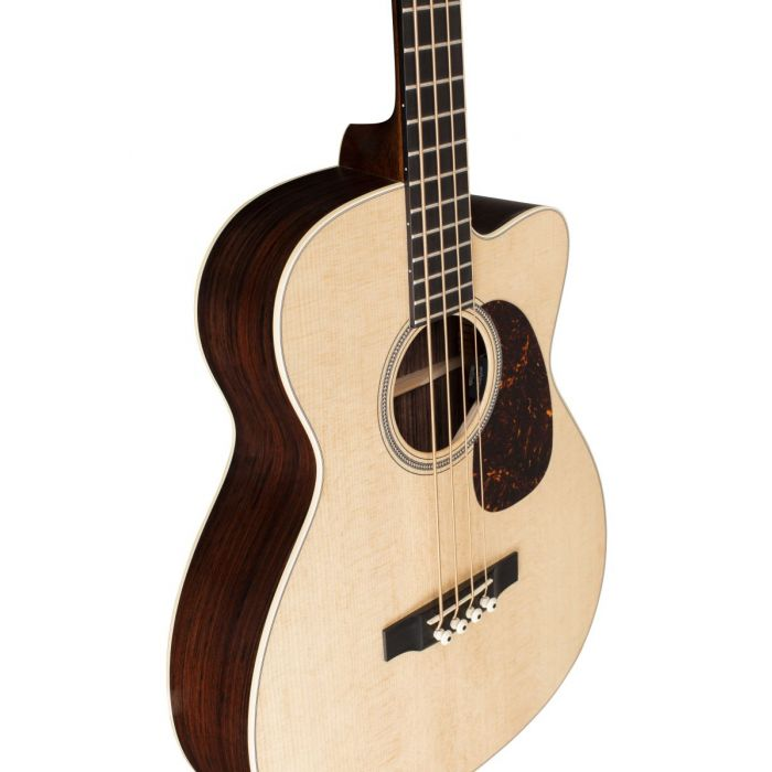 Martin BC-16E Electro Acoustic Bass Angled Front Detail