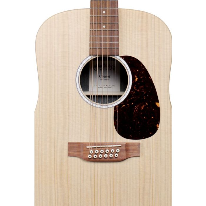 Martin D-X2E 12 String Electro Acoustic Detailed Front View