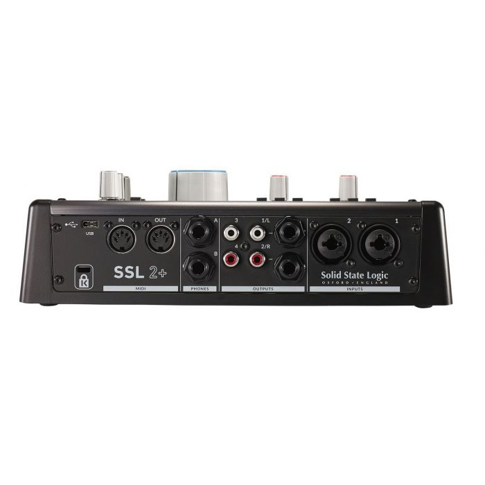 SSL 2+ USB Audio Interface Rear View