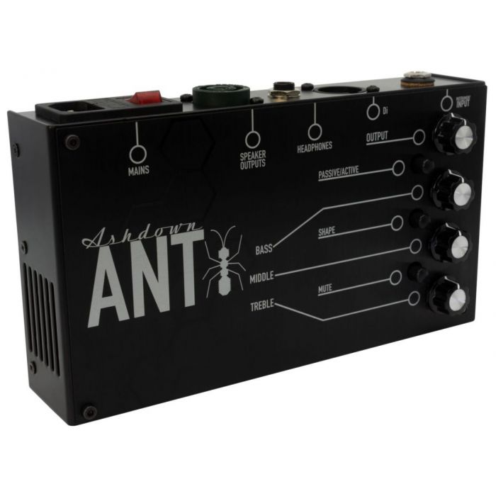 Front left angled view of an Ashdown FS-ANT-200 Powered Bass Amp Pedal