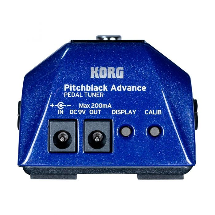 Rear View of Korg Pitchblack Advance Pedal Tuner