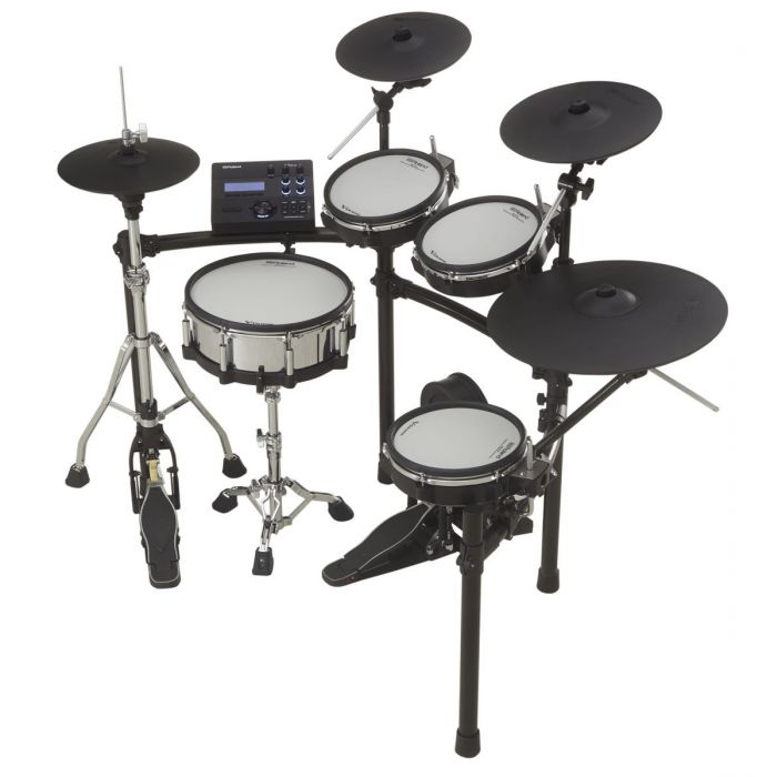 Angled View of Roland TD-27KV Electronic Drum Kit