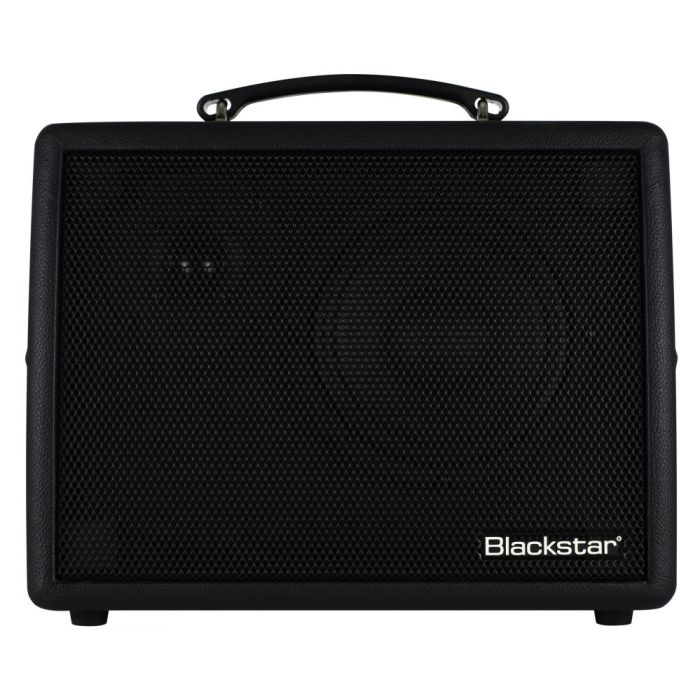 Front on view of a Blackstar Sonnet 60 Black Acoustic Guitar Amplifier