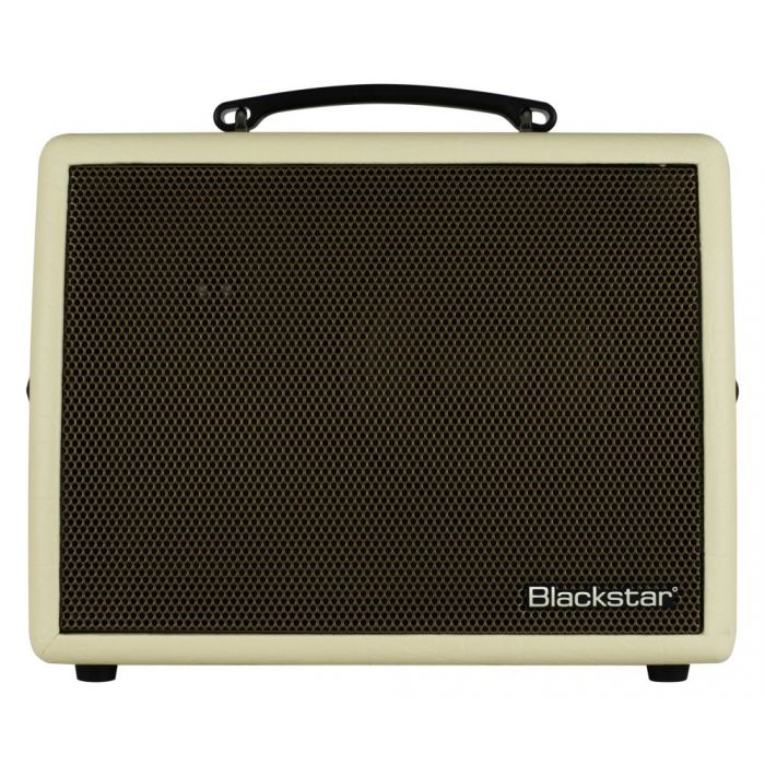 Full frontal view of a Blackstar Sonnet 60 Blonde Acoustic Guitar Amplifier
