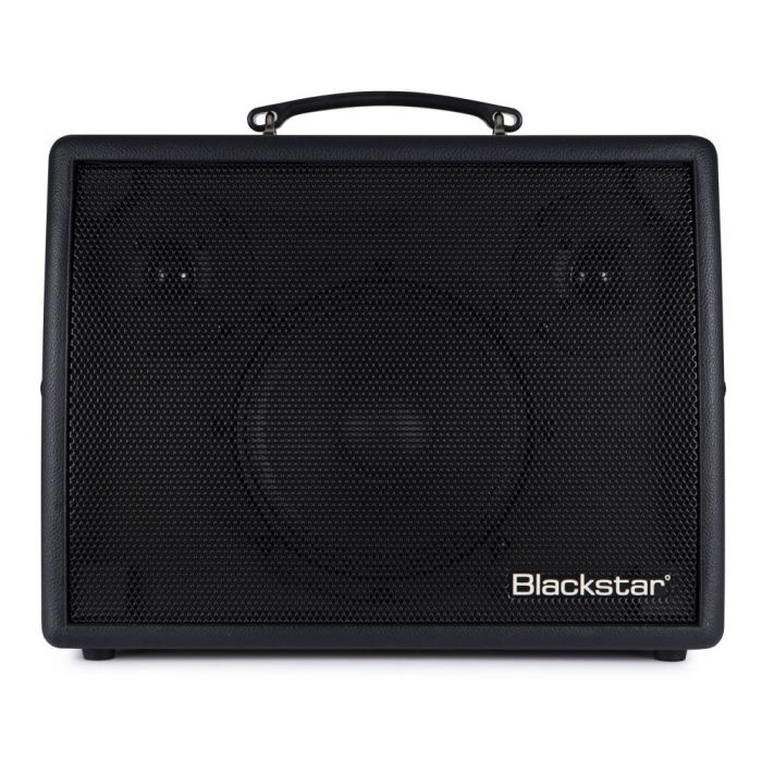 Full frontal view of a Blackstar Sonnet 120 Black Acoustic Combo Amplifier