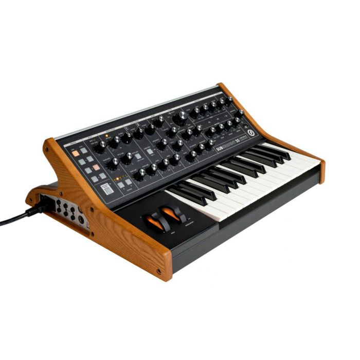Angled view of a Moog Synthesizer