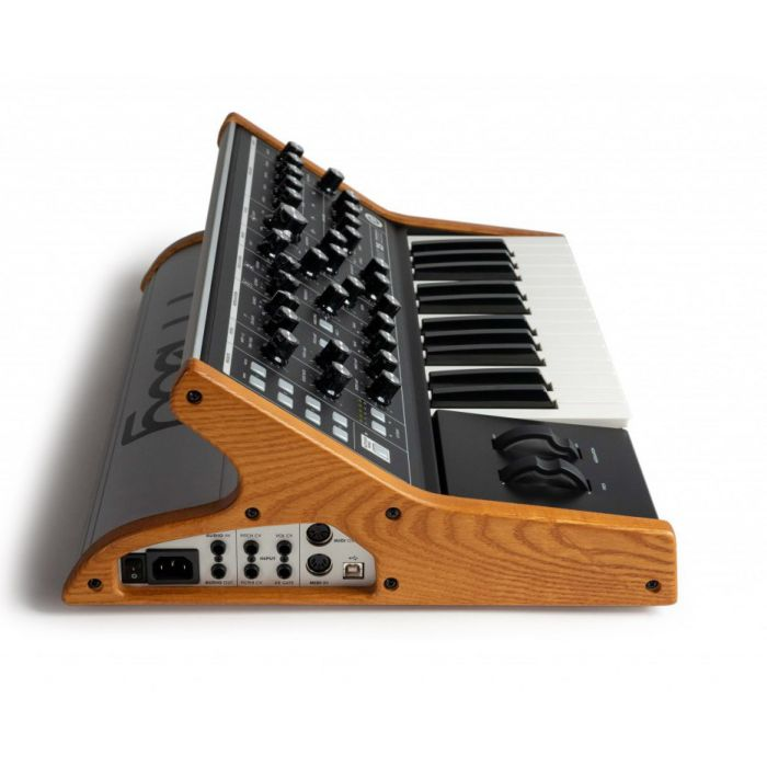 Side view of a Moog Synthesizer Keyboard