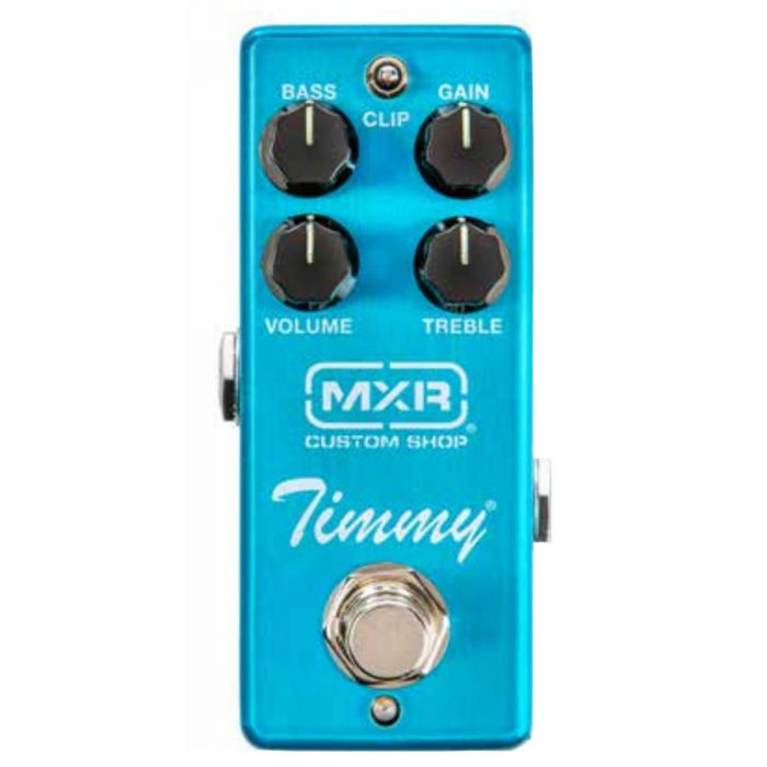 Top down view of an MXR CSP027 Timmy Overdrive Pedal