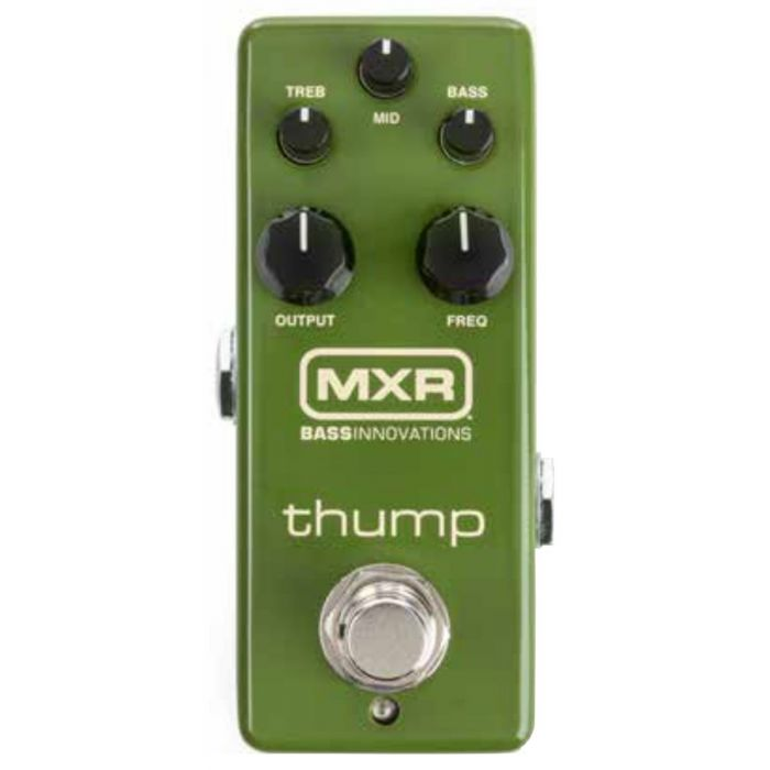 Top down view of a MXR M281 Thump Bass Preamp Pedal