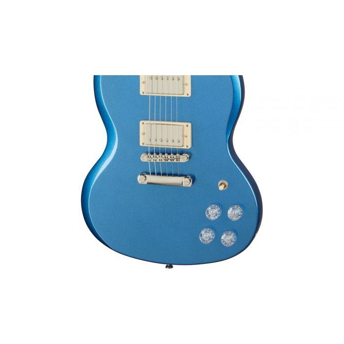 Epiphone SG Muse Radio Blue Metallic hardware