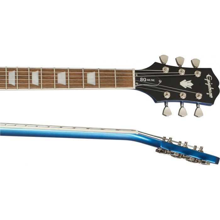 Epiphone SG Muse Radio Blue Metallic neck