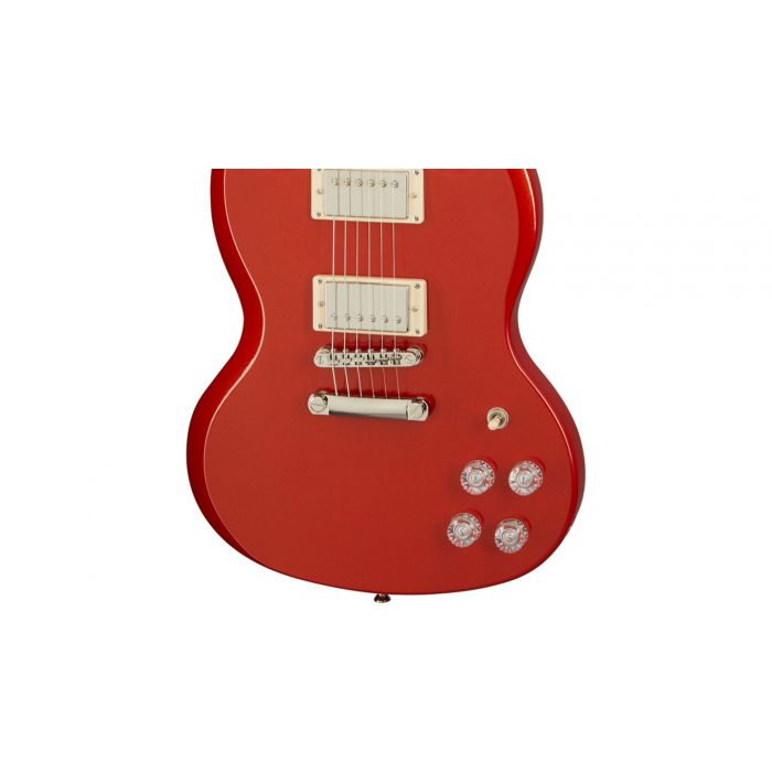 Epiphone SG Muse Scarlet Red Metallic hardware