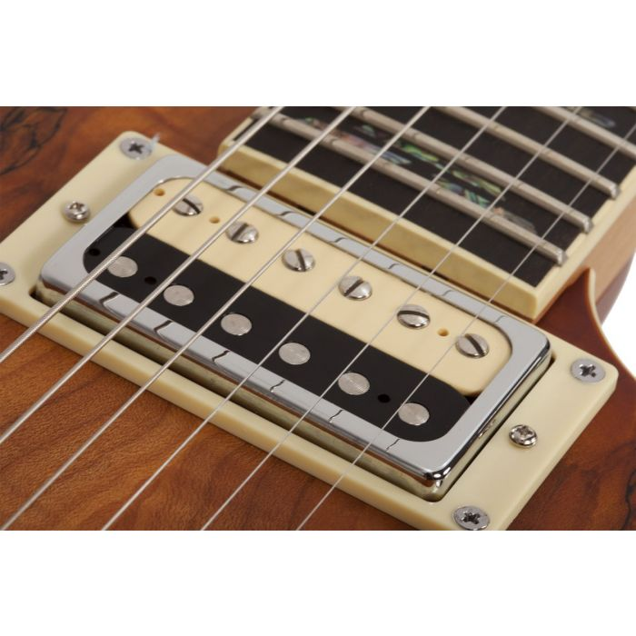 C-1 EXOTIC SPALTED MAPLE SNVB PICKUP CLOSE