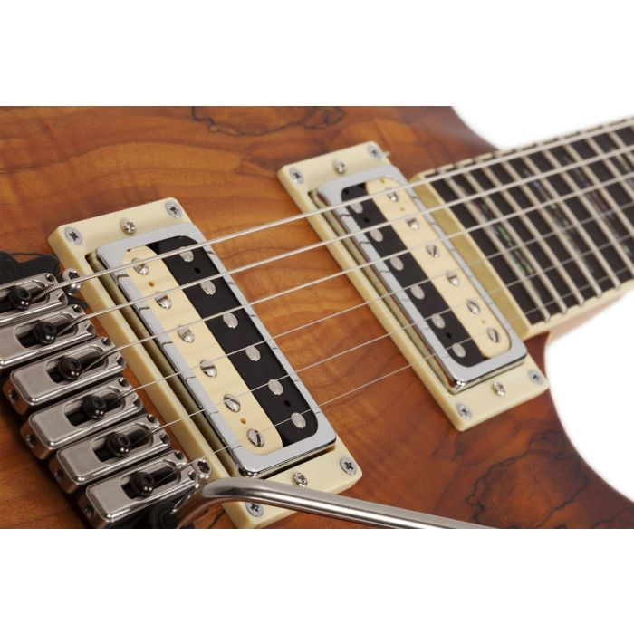 C-1 EXOTIC SPALTED MAPLE SNVB PICKUPS