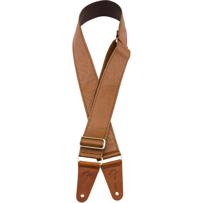 Fender Tooled Leather Guitar Strap 2 Brown Detail