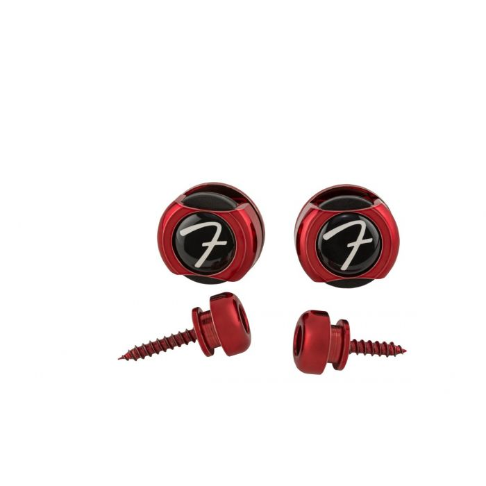 Fender Infinity Strap Locks (Red) Front