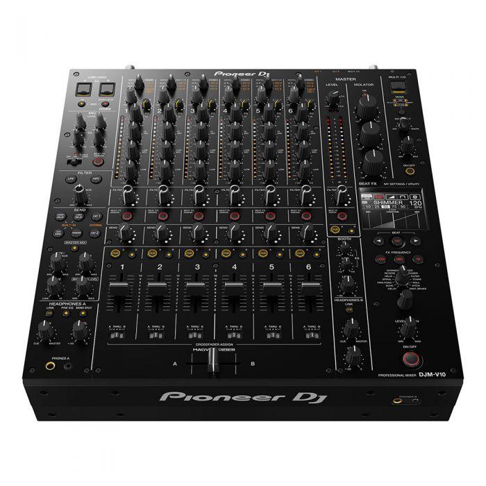 Pioneer DJM-V10 6-Channel DJ Mixer Angled Top