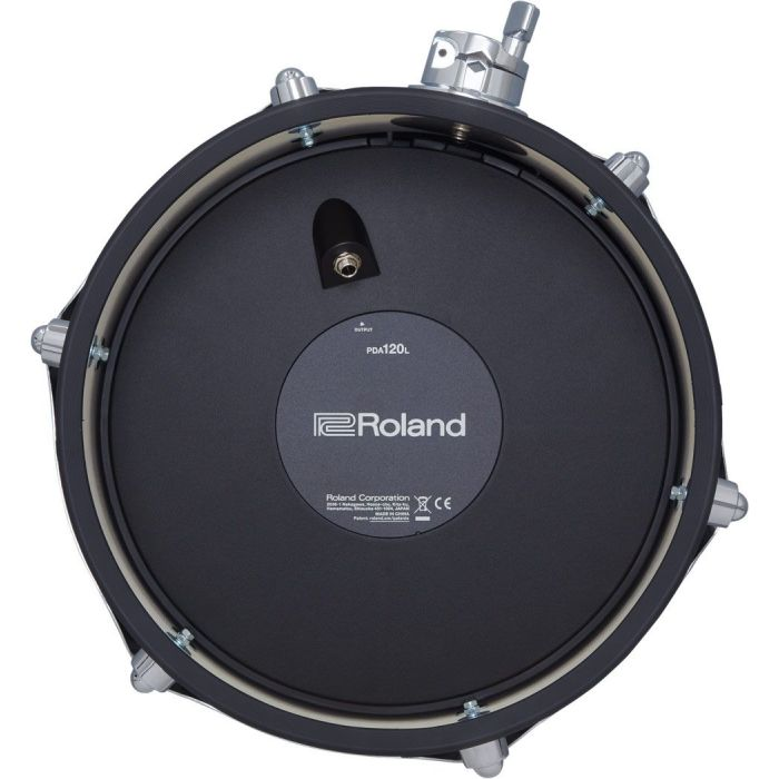 """The Roland PDA120L-BK is a perfect 12"""" tom upgrade for your drum kit set up. Look no further, with a wood construction in a compact shell design. This tom will slide perfectly into your drum arrangement.  Roland Drum Tech Advancements  The first thing"""
