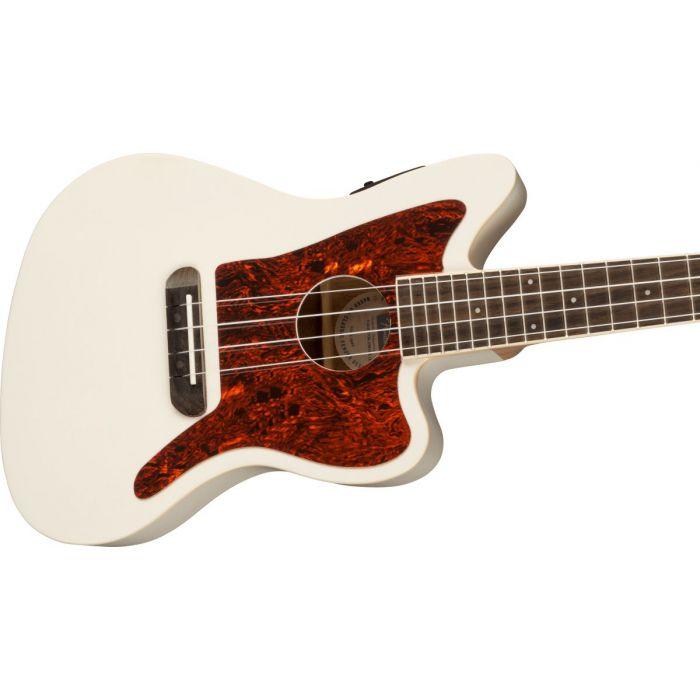 Fender Fullerton Jazzmaster Ukulele Olympic White Body