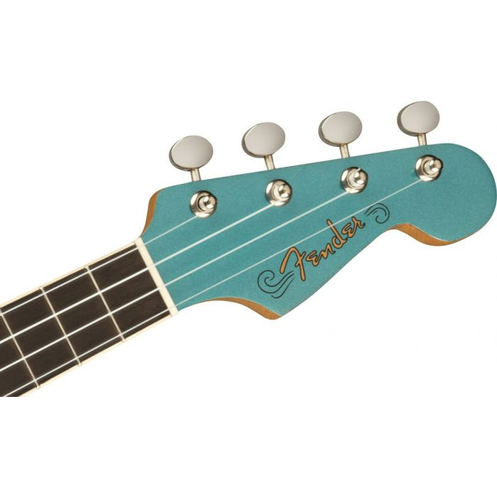 Fender Fullerton Jazzmaster Ukulele Tidepool Headstock