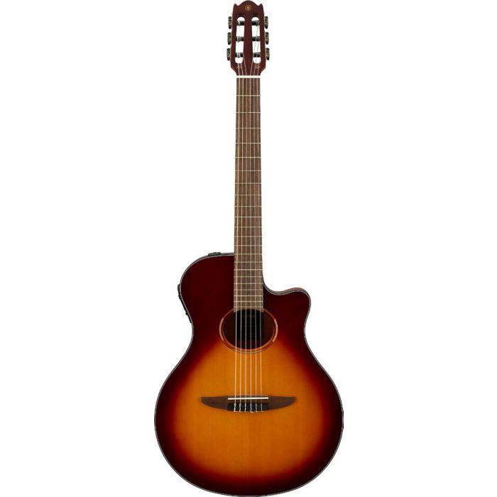 Yamaha NTX1 Electro Acoustic Nylon Guitar Brown  Sunburst Front