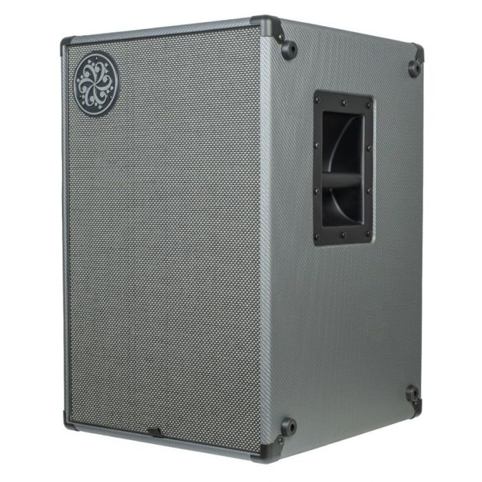 Front angled view of a Darkglass Electronics D210N Lightweight 210 Bass Cabinet