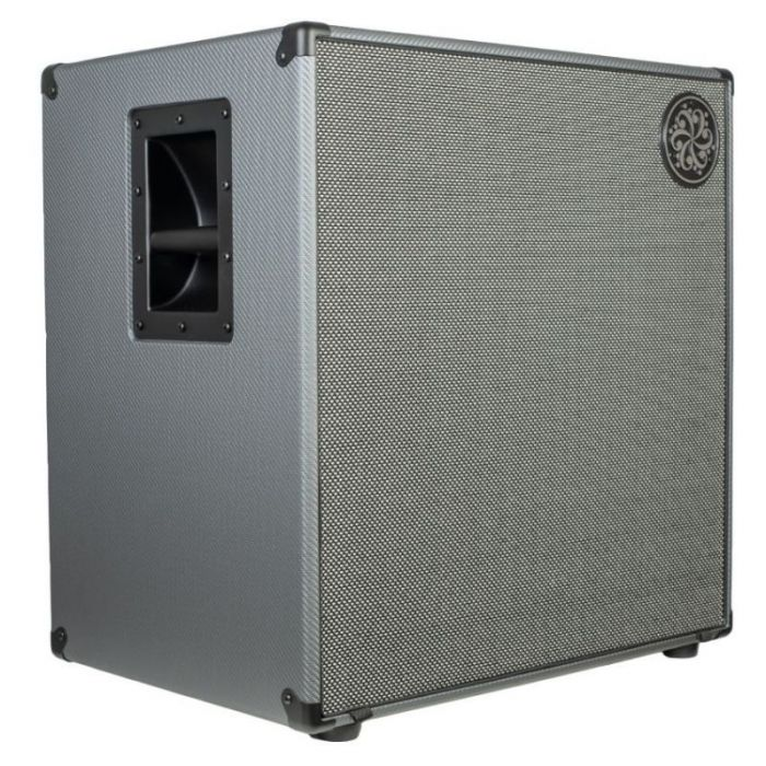 Front left angled view of a Darkglass Electronics D410N Lightweight 410 Bass Cabinet