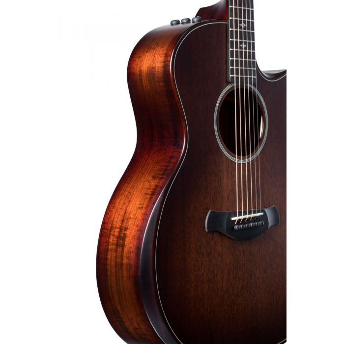 Side-on view of a Taylor Builders Edition 324ce Electro Acoustic Guitar