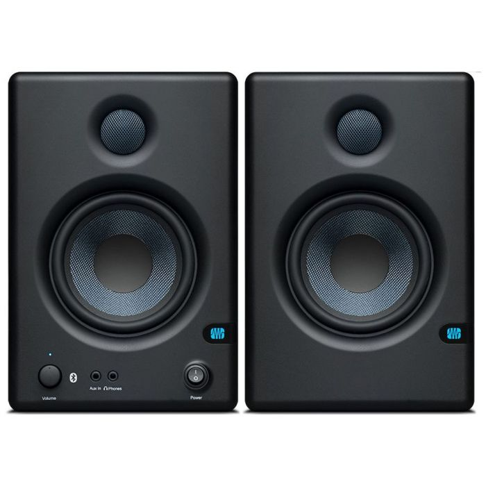 Front view of a Presonus Eris E4.5 BT 4.5 Inch Near Field Monitor with Bluetooth Pair
