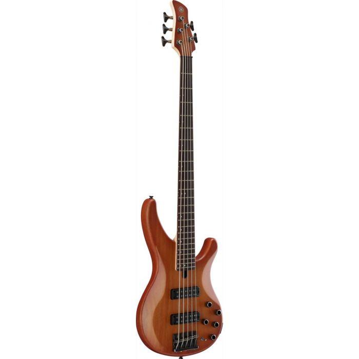 Yamaha TRBX505 5-String Bass Guitar Brick Burst Angle