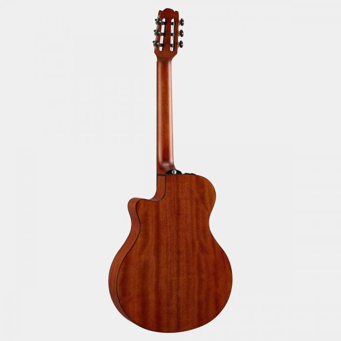 Yamaha NTX1 Electro Acoustic Nylon Guitar Brown  Sunburst Back
