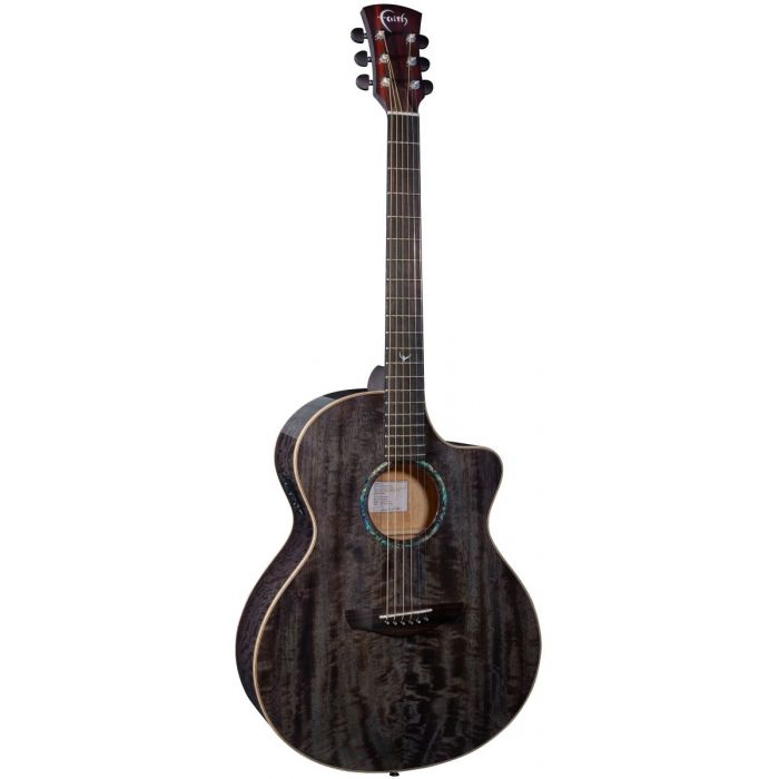 Full front view of a Faith Neptune Moondust Grey Cutaway Electro Acoustic guitar