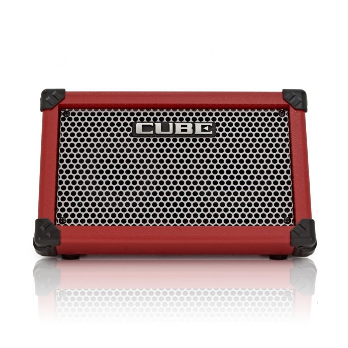 Roland Cube Street Battery Guitar Amplifier in Red Front
