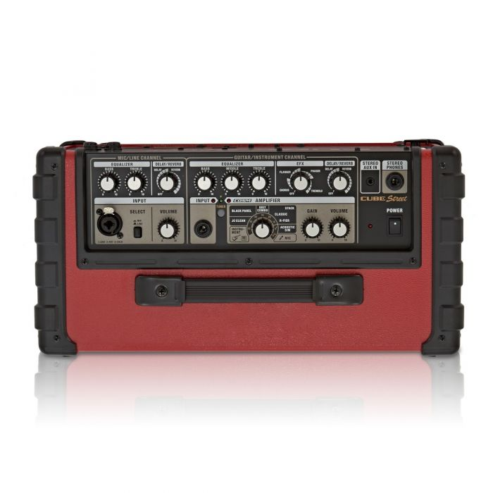 Roland Cube Street Battery Guitar Amplifier in Red Top