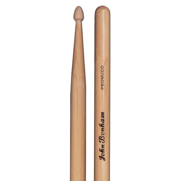 Closeup of the Promuco John Bonham Signature Drum Sticks