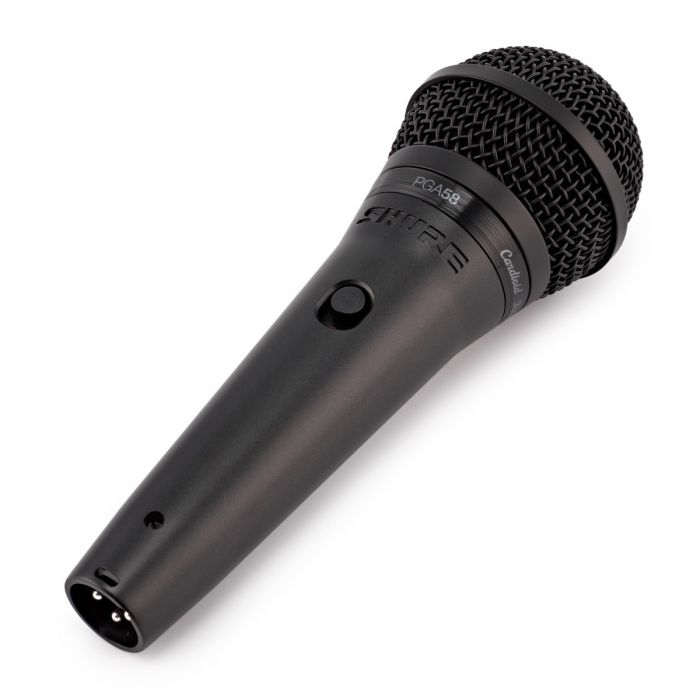 Shure PGA58BTS Microphone Front Angle