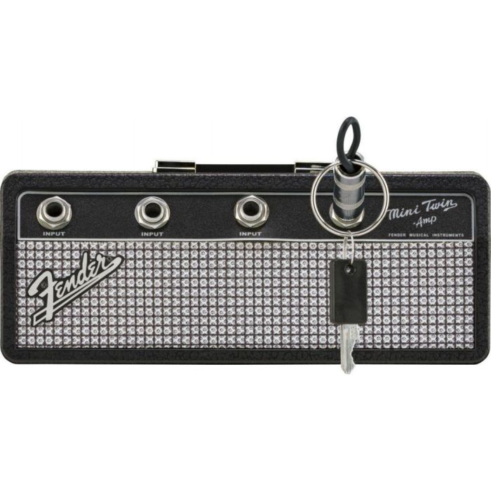 Fender Amp Keychain Holder with a key in place