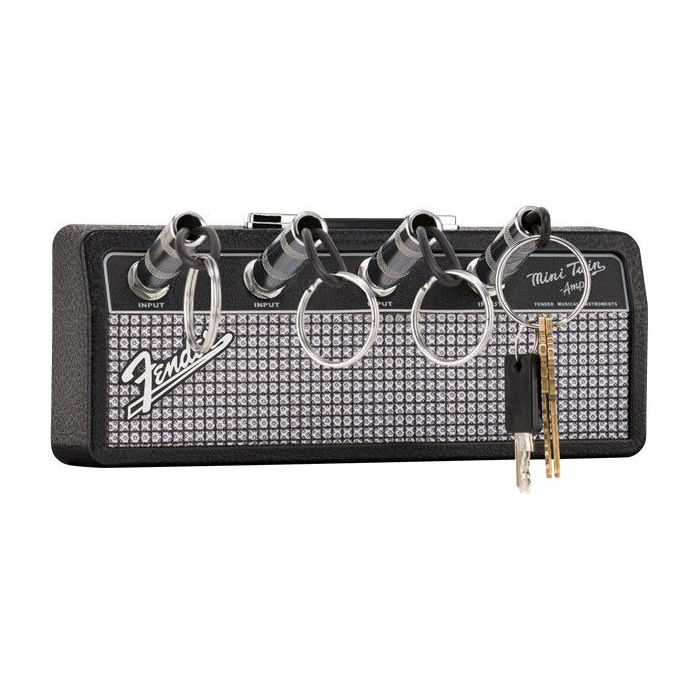 Fender Amp Keychain Holder with all plugs in place