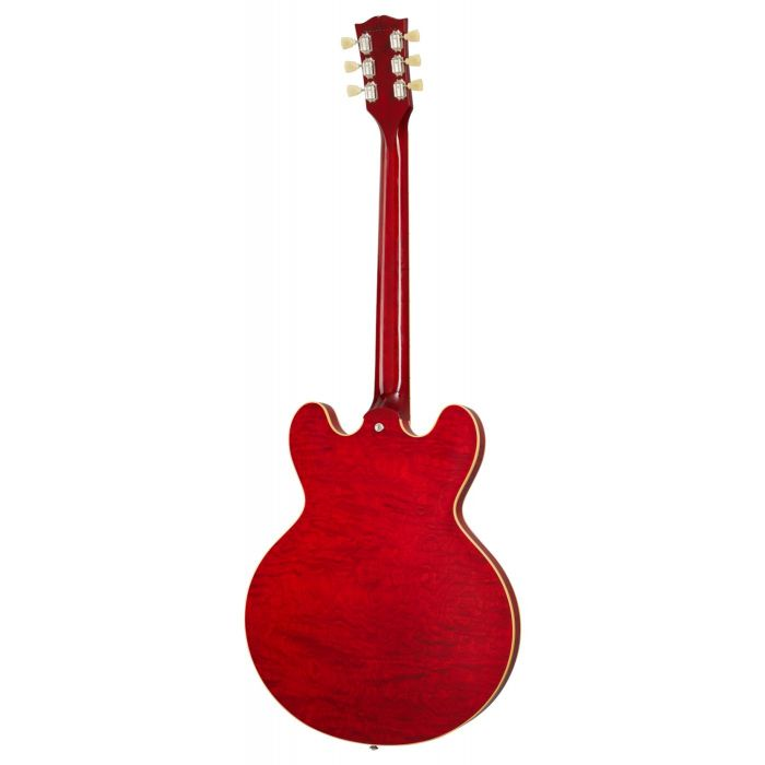 Full rear view of a Gibson ES-335 Figured Semi Hollow Guitar with a Sixties Cherry finish